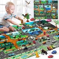 Kuerli 130 X 100cm Kids Map Taffic Animal Play Mat Baby Road Carpet Home Decor
