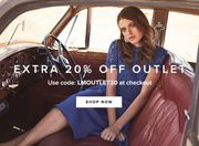 Extra 20% off the Outlet