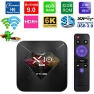 R-TV BOX X10 plus 6K Android 9.0 TV Box UHD 4K Media Player WiFi 4GB+32GB Z6C7