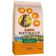 IAMS Naturally Adult Dry Cat Food Rich in New Zealand Lamb and Rice, 2.7 Kg