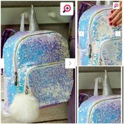Reversible Sequin Backpack with Unicorn Horn.