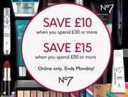 Boots Online Only Deal - save £10 with £30+ Spend, save £15 with £50+ Spend