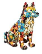 Katerina Prestige Colourful Mosaic Husky Figurine