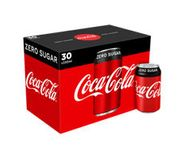 Coca-Cola Zero Sugar Cans 30pk ( Just 25p per Can) - Save £1.50!