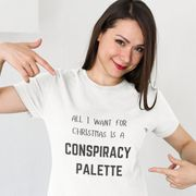 Funny Christmas Conspiracy Palette T-Shirt