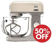HALF PRICE at AMAZON! Kenwood kMix Stand Mixer - Cream/Black/White/Red