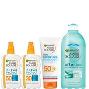 Sun Cream and Aftersun Multipack Kit, Ambre Solaire Kids and Adults