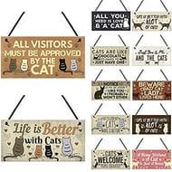 Meihet Door Wooden Hanging Sign Plaques Xmas Animal Friendship Pendant