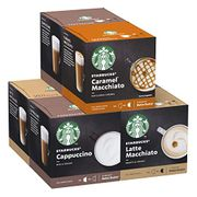STARBUCKS Nescafe Dolce Gusto Pods 6 Boxes of 12