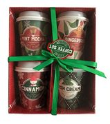 Festive Coffee Collection Boxed Gift Set Mini Cups Instant Coffee 4 X 22g