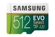 Samsung EVO Select 512 GB microSDXC UHS-I U3 Memory Card with Adapter