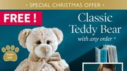 Coopers of Stortford - FREE! Classic Teddy Bear - Limited Offer