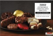 TESCO EXTREMELY CHOCOLATEY BISCUIT ASSORTMENT 450g