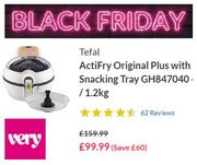 VERY BLACK FRIDAY DEAL - Tefal ActiFry Original plus with Snacking Tray