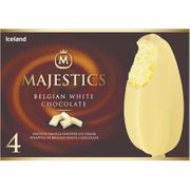 Iceland 4 Belgian White Chocolate Majestics 480ml