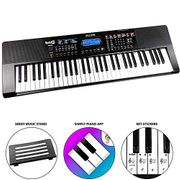 RockJam RJ461AX 61-Key Alexa Portable Digital Piano Keyboard