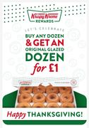 Buy 1 Dozen Krispy Kreme Doughnuts & Get an Original Glazed Dozen for £1