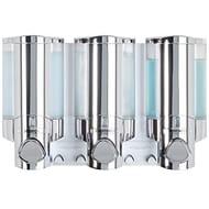 Aviva Better Living Products Three Chamber Dispenser, Chrome