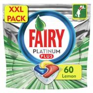 Fairy Platinum plus Quickwash Dishwasher Lemon 60
