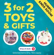 3 for 2 on Toys and Gifts