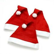 10 X Santa Hat Unisex Father Christmas Party Hat Xmas Adult Size Hat