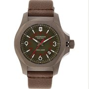 VICTORINOX Brown Leather Analogue Watch