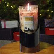 Yankee Candle Christmas Cookie Medium Pillar 340g Candle with Candle Holder
