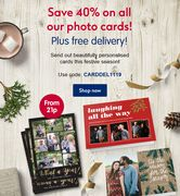 Save 40% on All Photo Cards plus Free Delivery