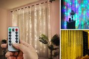 Remote Control LED Curtain Lights - 2 Sizes & 3 Colour Options!