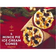 Iceland 4 Mince Pie Ice Cream Cones 288g