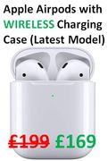 £30 OFF! Apple Airpods with WIRELESS Charging Case (Latest Model)