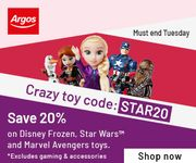 20% Off ALL Star Wars, Frozen & Marvel Avengers Toys Inc LEGO