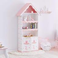 Swan Lake Ballerina Girls Bookcase Book Shelf ,