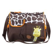 Giraffe Baby Changing Brown/Green Accessory Bag