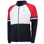 Manchester United Retro Sports Colourblock Track Jacket - Navy/White/Red - Mens