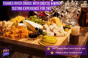 Thames River Cruise & Cheese & Wine Tasting for Two - Gift Experience for 2