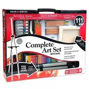 Daler Rowney 111 Piece Complete Art Set with Easel