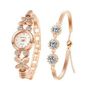 Women's Watches with Bracelet Rhinestone Quartz Analog Wrist Watch Bracelet