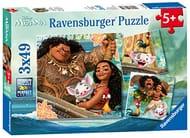 Best Ever Price! Ravensburger Disney Moana 3x 49pc Jigsaw Puzzles