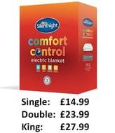 Silentnight Comfort Control Electric Blanket - Deals from £14.99