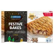Greggs Limited Edition Festive Bakes. £2.00 or 3 for £5.00