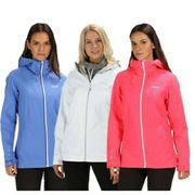 Regatta Womens Hamara Ii Lightweight Waterproof Jacket White Blue Pink