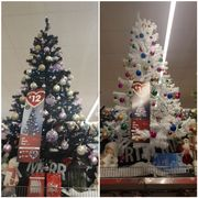 Cheap 6ft Christmas Tree in Black or White, Only £12!