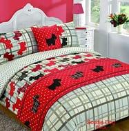 Scottie Dogs Tartan Style 5pc Bed in a Bag Double
