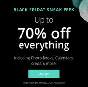 Extra 10% off with up to 70% off Black Friday Sale at Photobox