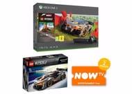Xbox One X Forza Horizon 4 & Lego Expansion + Lego Mclaren Senna Set + Now Tv