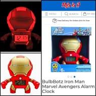 BulbBotz Iron Man Marvel Avengers Alarm Clock