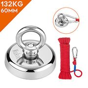 Round Neodymium Eyebolt Fishing Magnet with Rope