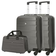BARGAIN! 2 X Aerolite Lightweight Hard Cabin Cases + 1 Hand Luggage Holdall