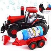 GELRIZTY Bubble Blowing Farm Tractor with Lights and Sound